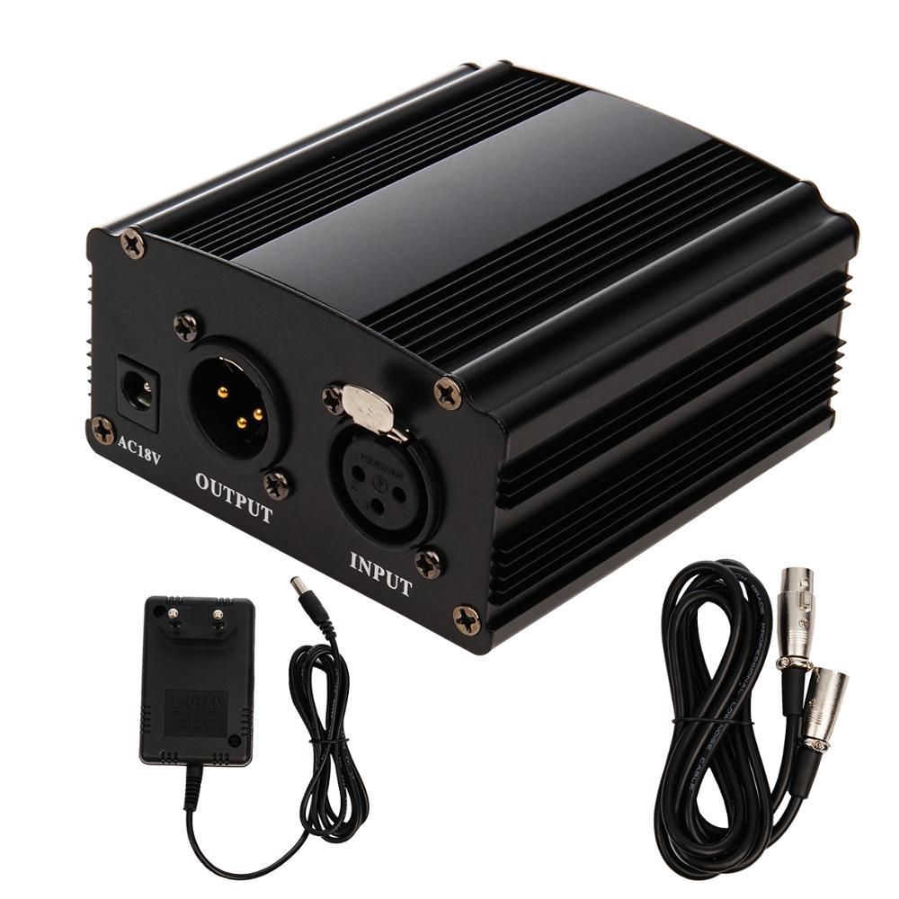 FGCLSY 48В Мощность для BM 800 конденсаторный микрофон Phantom Мощность с XLR кабель адаптер переменного тока