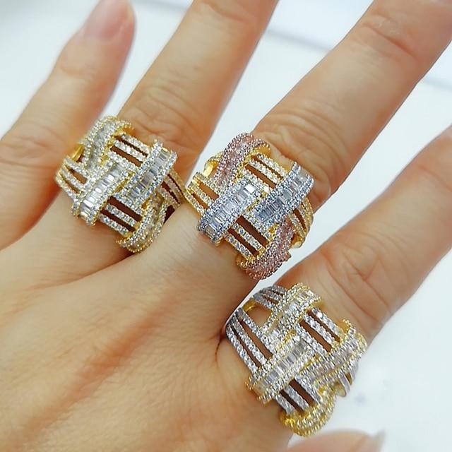 GODKI 2019 Trendy Cross Geometry Cubic Zirconia Stacks Rings for Women Finger Rings Beads Charm Ring Bohemian Beach Jewelry 2019