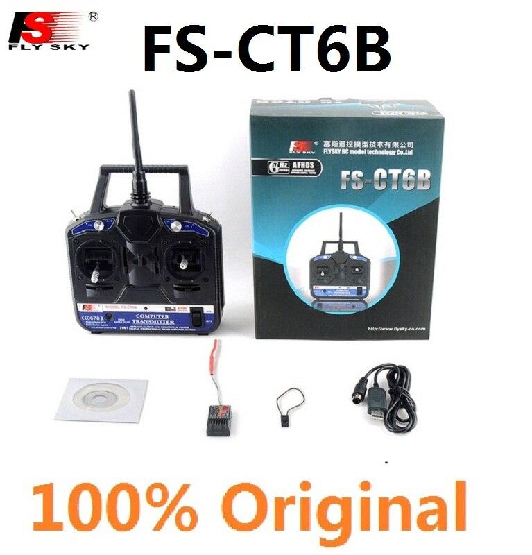 FlySKY FS CT6B FS-CT6B無線送信機FS-R6B受信機6CH 2.4Gリモートコントローラー無線システムFS fly sky freeshipping rc送信機