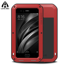 Aluminum Metal Full Body Protective Case For Xiaomi Mi 6 8 Mi6 Phone Shockproof Armor + Gorilla Glass Cover Xiaomi Mi8 Case Mi6