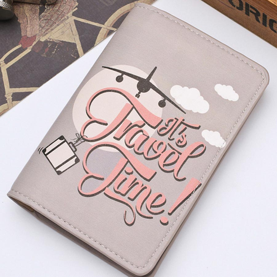 Zoukane Card-Case Document Passport-Cover Travel-Id Credit Women CH02F