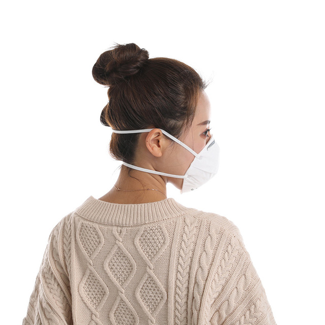 5/10pcs KN95 Cup Mask  Flu Face Mask White PM2.5/N95 5 Layer Adjustable Strip Dust Outdoor Breathable Facial Non Woven Masks 1