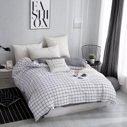 Домашний текстиль, белый плед, пододеяльник на молнии, 1 шт., современное одеяло/одеяло, чехол для взрослых детей, Твин, полный, королева, коро...