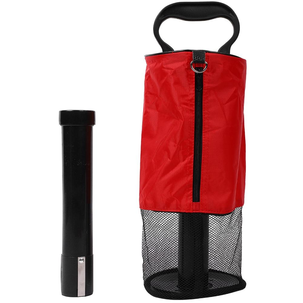 Купить с кэшбэком Golf Ball Cylinder Picking Ball Machine Removable Pick-up Barrel Easy Standing Golf Device 30JP07