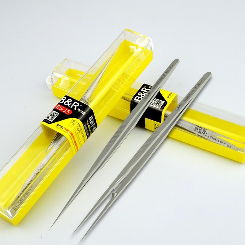 Stainless Steel Tweezers Professional Maintenance Tool Edge Precision Fingerprint Tweezers Apple Main Board Copper Wire Tweezers