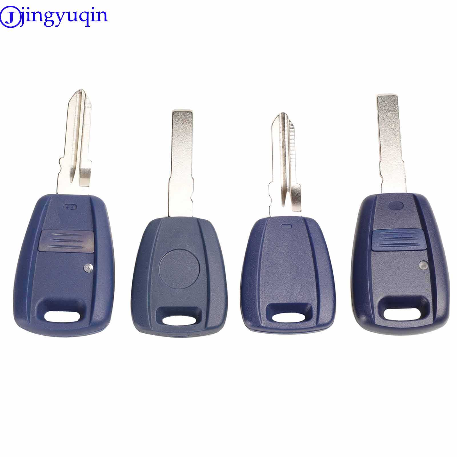 Jingyuqin 10P Transponder Ignition Auto Sleutel Zonder Chip Cover Case Voor Fiat Punto Punto Seicento Met Ongesneden Blad GT15R
