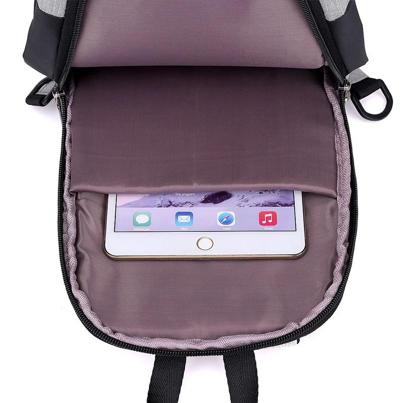 New Style Chest Pack Men's Korean-style Fashion Horizontal Shoulder Bag Shoulder Bag Cool Casual Headphone Jack Contrast Color C