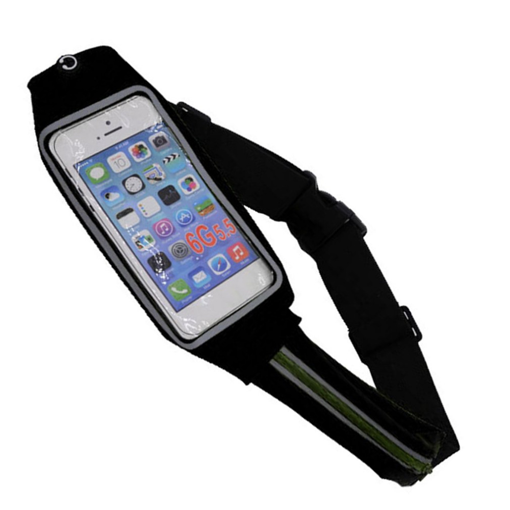 Women Men Waist Bag Sport Waist Bag Screen Touching Waterproof Running Belt Pouch Mobile Phone Holder For Phone 370x10x100mm