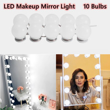 USB LED 12V Makeup Lamp Wall Light Beauty 10 Bulbs Kit For Dressing Table Stepless Dimmable Hollywood Vanity Mirror Light