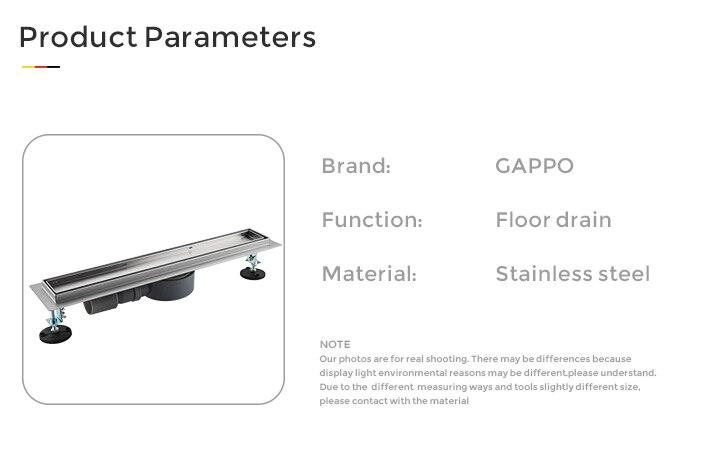 Gappo dreno do chuveiro de aço inoxidável