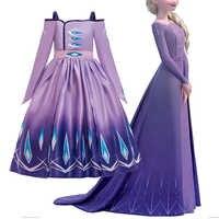 2019 meninas elsa 2 novo traje de princesa crianças vestido anna elsa cosplay aniversário vestidos menina neve rainha fantasia vestir-se