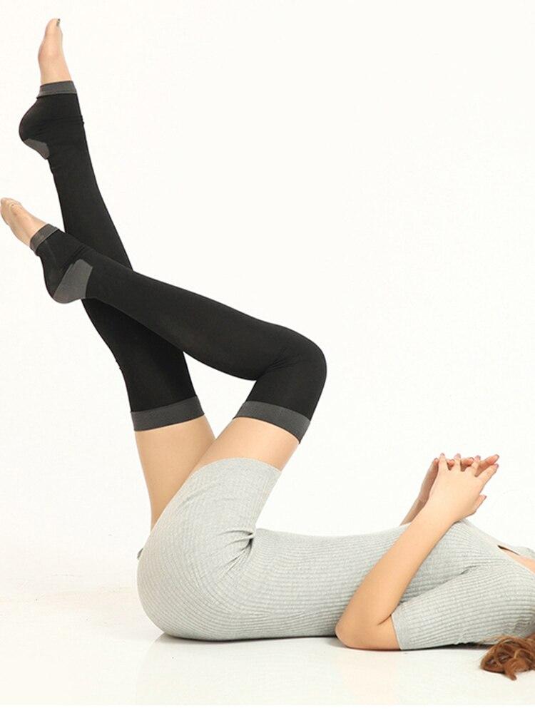 1 Pair 80CM Women Stockings Compression Socks Nylon Varicose Veins Burn Fat Fit Slimming Leg Over The Knee High Socks Fingerless