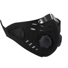 Winter Warm Outdoor Neoprene Bicycle Cycling Motorcycle Mask Half Face Neoprene Mask Bike Mask Sport Tactical Face Mask tanie tanio Oddychająca black