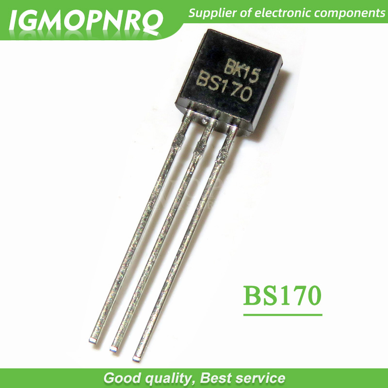 20pcs BS170 MOSFET N-Channel 60V 50mA TO-92 0.5A / 600V FET New Original