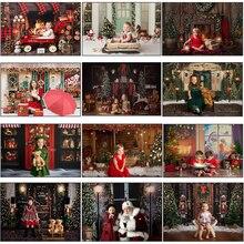 MOCSICKA Фотофон по индивидуальному заказу, Рождественская елка свет венки камин носки-игрушки День рождения фон фотосессия Фотостудия