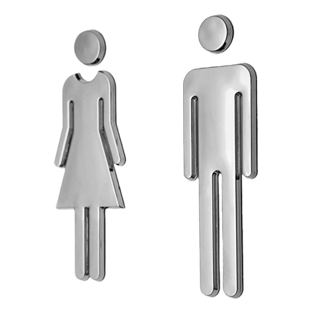 Washroom Bathroom Toilet Black 100mm Mirror Changing Room Door//Wall Sign