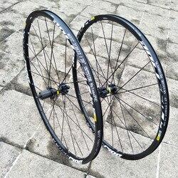 CROSSRIDE vtt VTT frein à disque roues vélo scellé roulement Six trous jante verrouillage Central 26 27.5 29 pouces jeu de roues