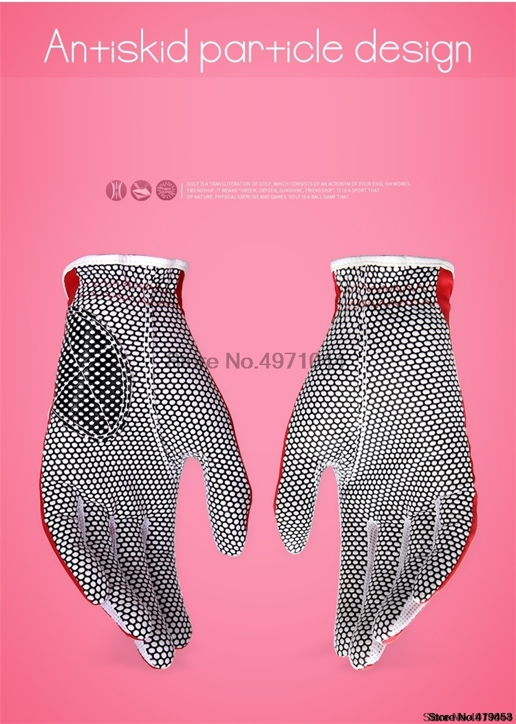 1 par pgm feminino luvas de golfe