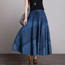 Free Shipping 2020 New Long Maxi A-line Skirts Women Elastic