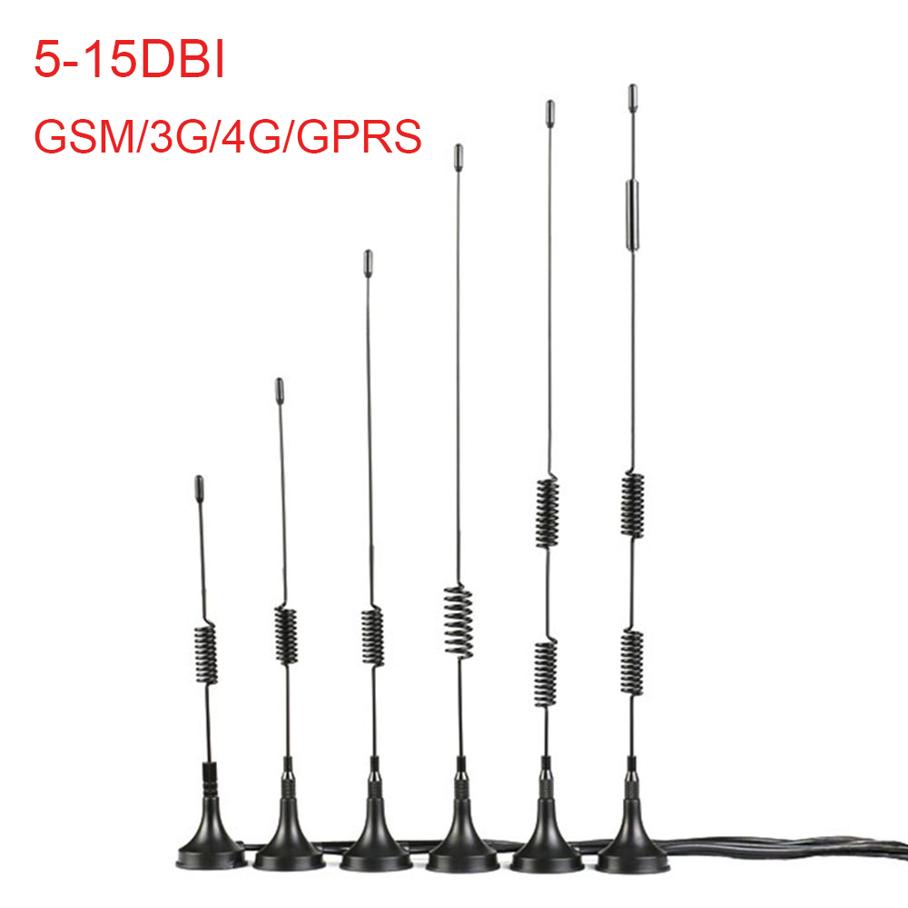 LEORY Wifi Antenna 5/6/7/9/10/15DBI Extension Cable SMA Male Connector 3G 4G High Gain Sucker Aerial For CDMA/GPRS/GSM/LTE(China)