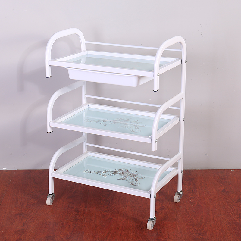 Beauty Salon Trolley With Drawer On The Third Floor