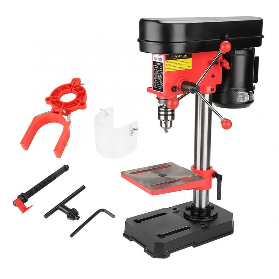 drilling machine electric Mini Bench Drill Press Stand Workbench Mounted 350W 5 Speed 50mm US Plug 110V perceuse bois machine