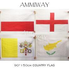 Ammiway 90*150cm 3x5 pés chipre inglaterra polónia vaticano poliéster impresso grandes bandeiras e banners país do mundo bandeira nacional