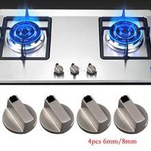 Behogar, 4 шт., 6 мм/8 мм, универсальный металлический поворотный переключатель, ручки управления, сменный аксессуар для кухонной плиты, газовая плита, духовка, варочная панель