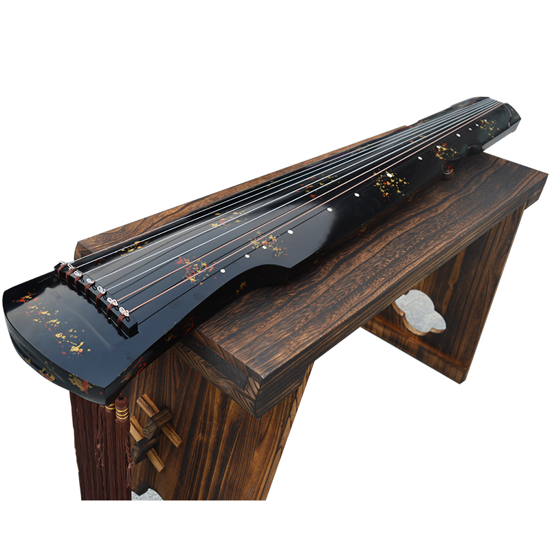 Chinese Guqin Fuxi /ZhongNi HunDun Style Lyre 7 Strings Ancient Zither Chinese Musical Instruments Zither Guqin Send Study Book