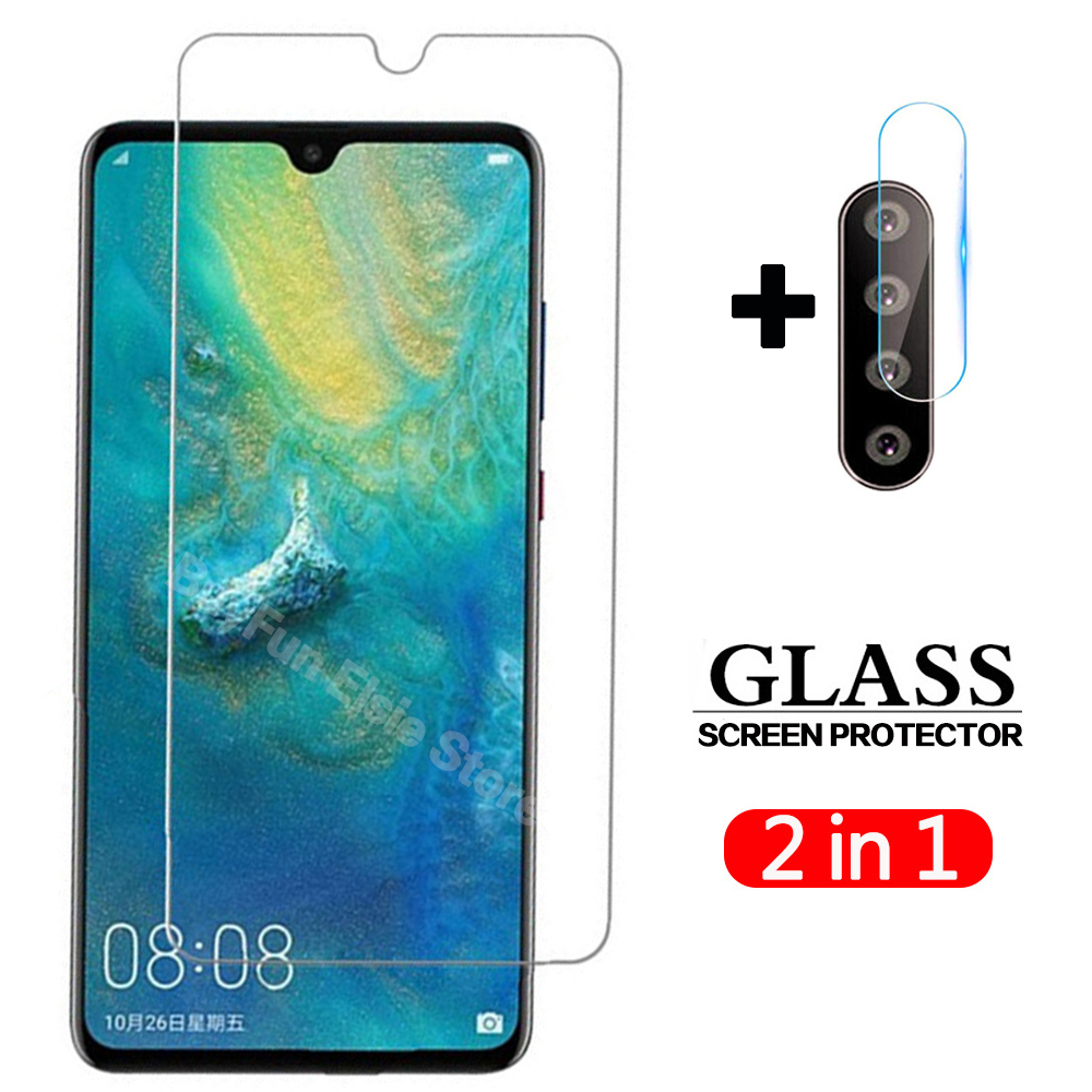 2 In 1 Tempered Glass On For Huawei P30 Lite Camera Lens Screen Protector Film Protective Glass For Huawei P30lite P 30 Light