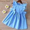 ユーモア赤ちゃんの夏のドレス 2020 ブランド新女子服フリル sleevele プリンセス frocks ビッグ弓ファッションキッズベビーガールドレス
