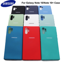 For Samsung Galaxy Note 10 Plus Liquid Silicone Cover Protective Silky Soft Touch Shell For samsung Note 10+ Note10 Pro
