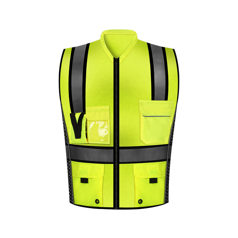Sfvest Manufacturers Direct Selling Reflective Vest Reflective Waistcoat Traffic Safety Reflective Vest Multi-pockets Reflective