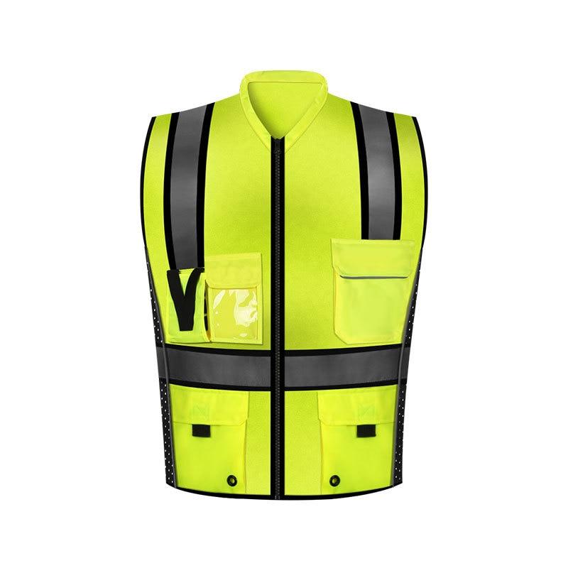 Sfvest Manufacturers Direct Selling Reflective Vest Reflective Waistcoat Traffic Safety Reflective Vest Multi-pockets Reflective