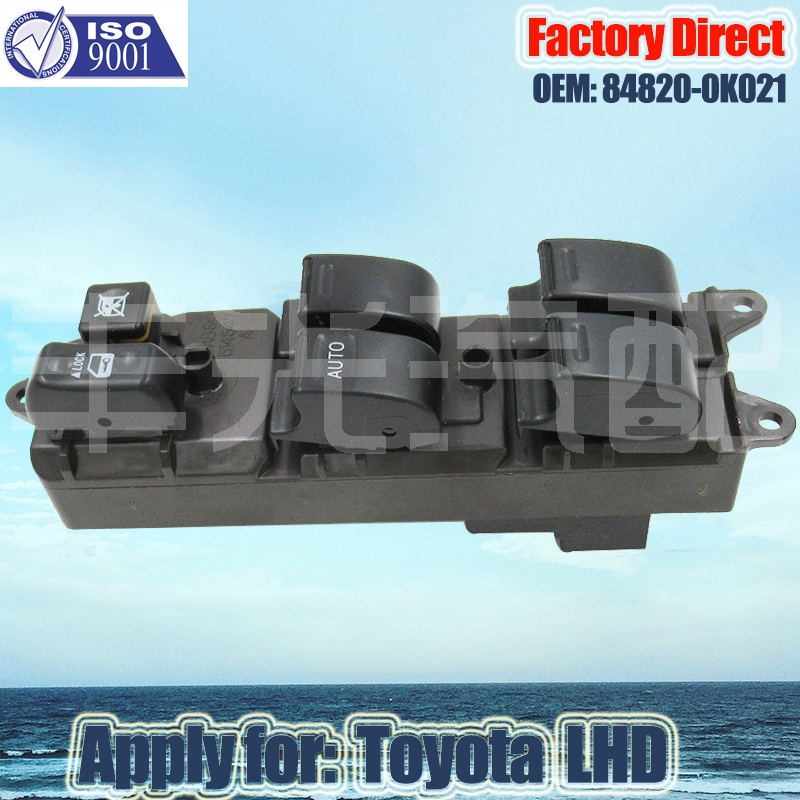 Factory Direct Auto Power Master Control Window Switch Apply For Toyota Left Driver Side 84820-0K021