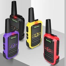 Walkie-talkie profissional ultra-fina, mini cor ultra-pequena carregamento direto usb 3xue