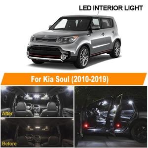 White Car Bulbs LED Interior Light Kit For 2010 2011 2012 2013 2014 2015 2016 2017 2018 2019 Kia Soul Map Dome License Lamp
