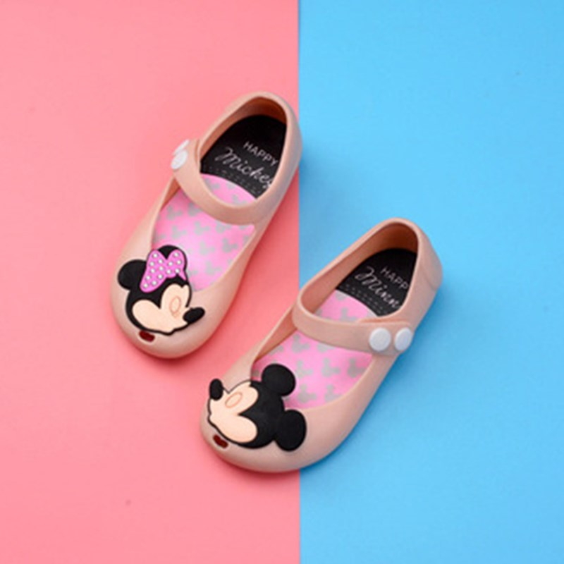 Mickey Minnie Girls Shoes Soft Jelly Shoes Cartoon Sandals Kids Girls Beach Shoes For Children Sandals Girls Princess Sandals
