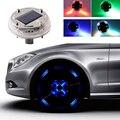 4 режима LED RGB Автомобильная солнечная энергия вспышка ступица свет красочная атмосферная лампа крутые лампы для автомобильных шин Декор ко...