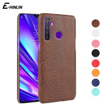 Snake Crocodile Leather Case Back Cover For OPPO Realme 2 3 5 Pro X Lite 3i C2 Ultra Slim Hard Plastic Protective Shell Funda(China)
