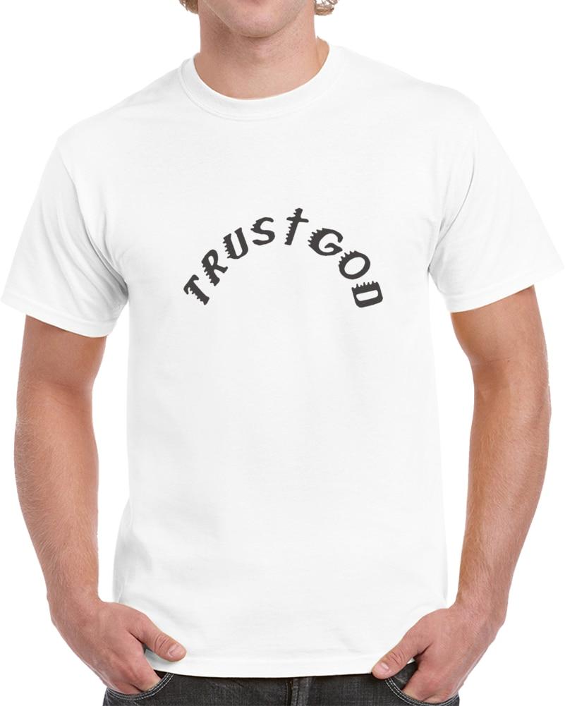 Kaos Pria Kanye West Thermal Percaya Tuhan T SHIRT (1) Kaos Wanita T Shirt