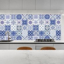 New wall stickers film mosaic tiles waterproof retro decorative floor DIY