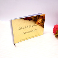 Horizontal 25x18cm Wedding Custom Signature Guest Book Acrylic Mirror White Blank Personalized Books Party Favors Bride Gifts