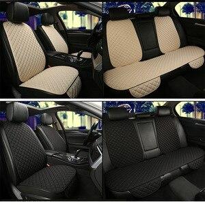 Image 3 - גדול גודל פשתן מושב המכונית כיסוי מגן פשתן קדמי או אחורי מושב אחורי כרית כרית מחצלת משענת עבור אוטומטי פנים משאית Suv ואן
