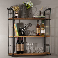 Tie yi multi layer partition wine rack simple book decoration rack bar restaurant home creative shelf