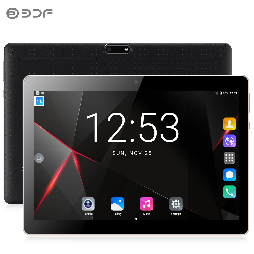 BDF New 10 Inch Original Tablet Pc Android 7.0 Dual SIM Cards Quad Core CE Brand WiFi FM New 3G Phone Call Laptop 10.1 Tablets
