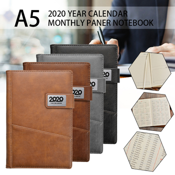 2020 New A5 Diary Weekly Monthly Schedule Notebook Journal Planner Calendar Book Back to School Business Daily Plan Note Book