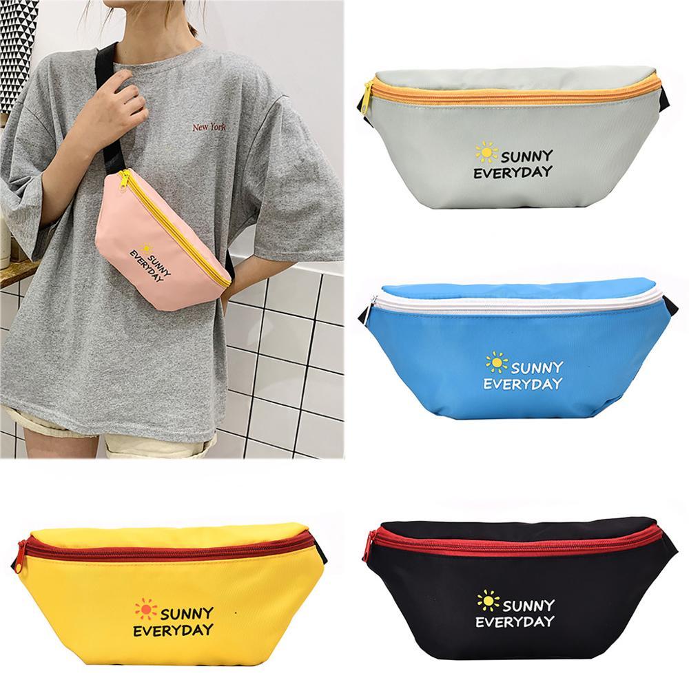 Fashion Chest Pocket Neutral Outdoor bag Crossbody Chest Bags Canvas Headphones Pocket Shoulder Bag Dropship Y802