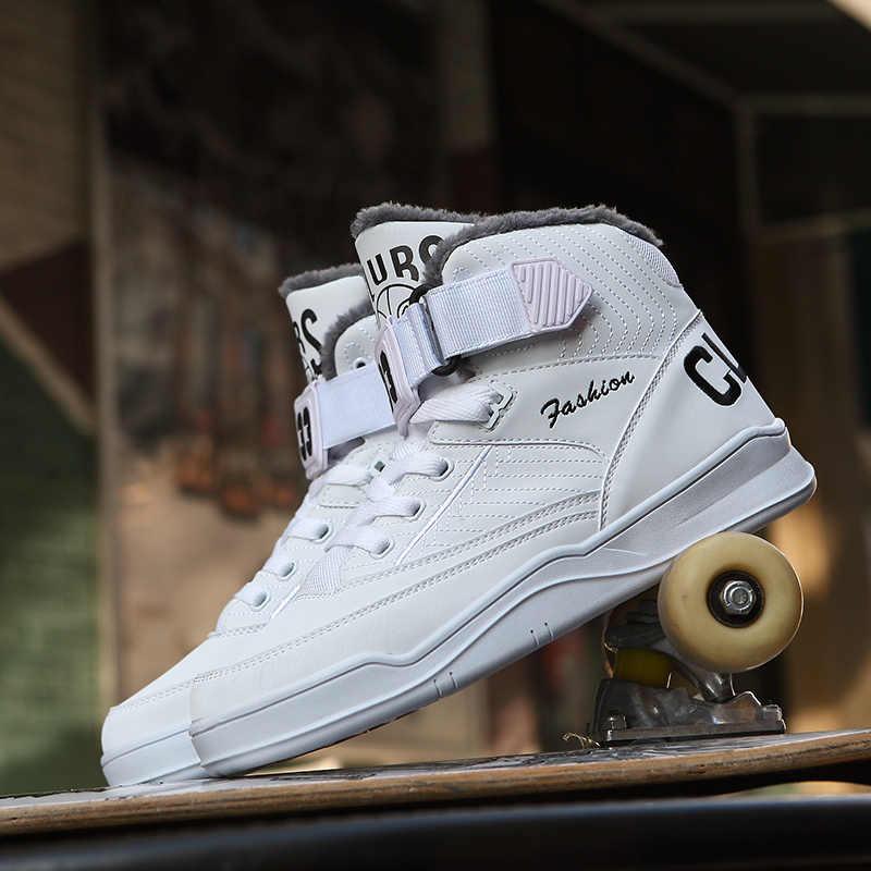 Kış ayakkabı erkek erkek Bona rahat Hip Hop moda yüksek Top Sneakers gerçek eğitmenler Trend beyaz ayakkabı sonbahar Hot36-48