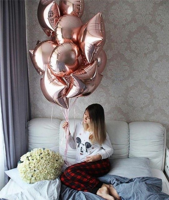 10pcs-18inch-rose-gold-star-heart-round-Foil-helium-Balloons-inflatable-Birthday-Party-Event-Wedding-Valentine